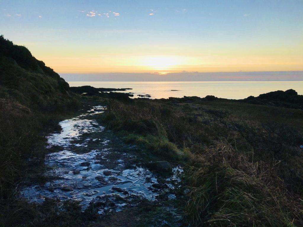 Sun Peeps Over The Horizon at Rascarrel Bay