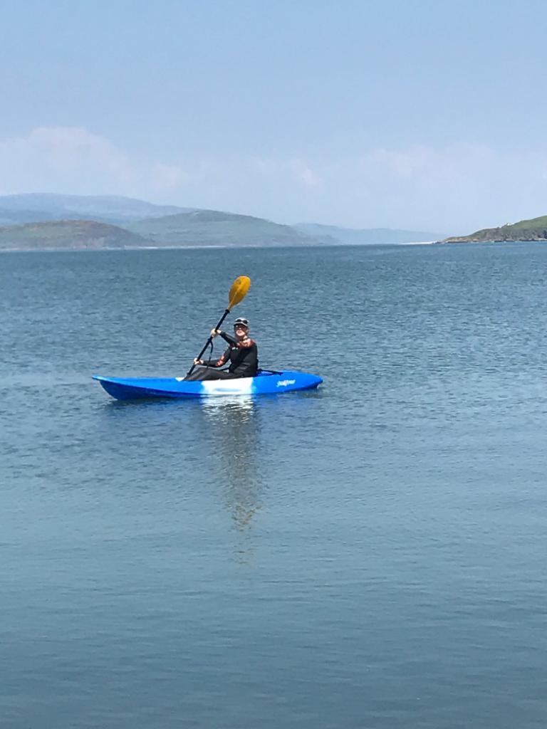 Kayaking in Balcary Bay