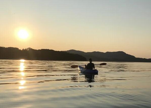 Evening kayak on Balcary Bay