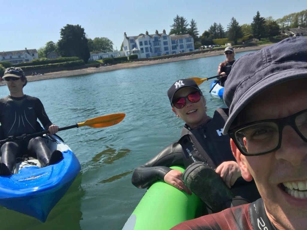 Lou kayaking on balcary bay